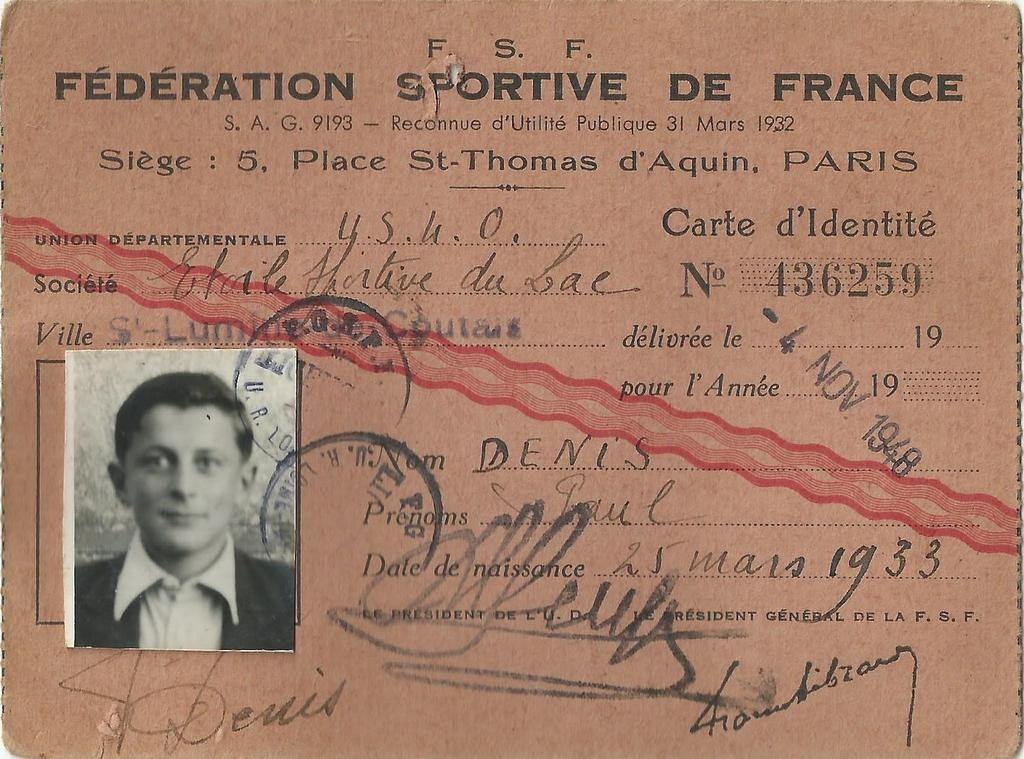 ESL-19481104-Licence-Denis-Paul