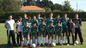 Équipe U15 le 11 octobre 2014 avant la rencontre Bouaye 1 - ESL
