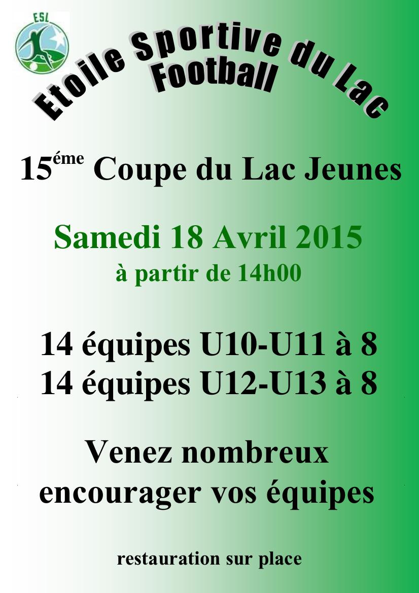 Affiche Coupe du Lac jeunes 2015
