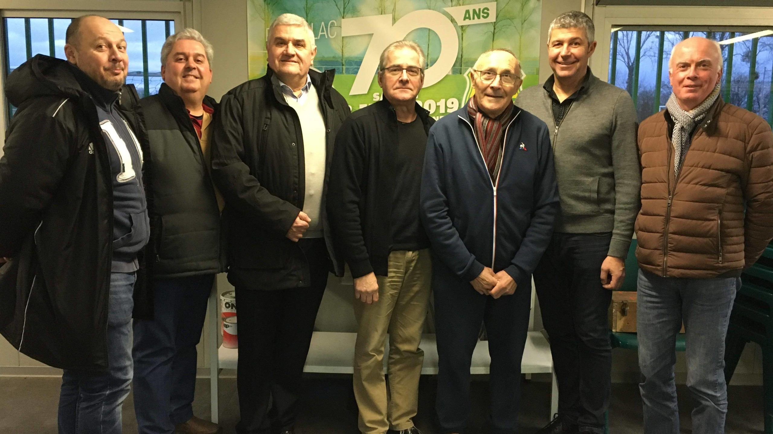Photo du 11/01/2019 avec les 7 présidents de l'ESL.