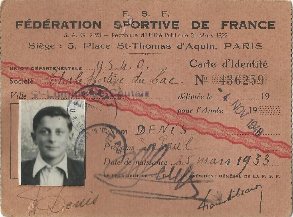 ESL-19481104-Licence-Denis-Paul